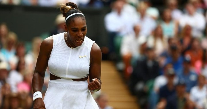 Wimbledon. Serena Williams advanced to the semifinals