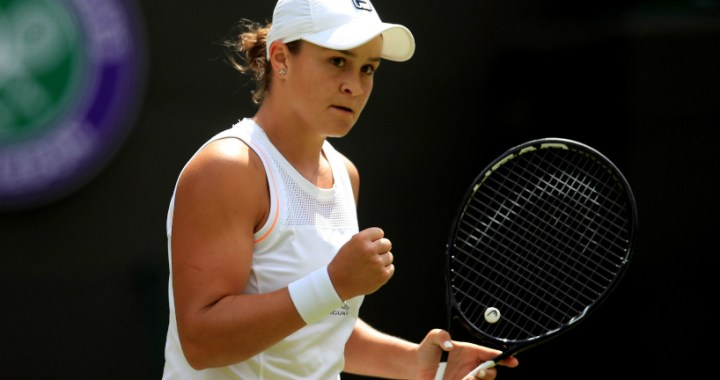 Wimbledon. Ashleigh Barty gave only four games to her opponent