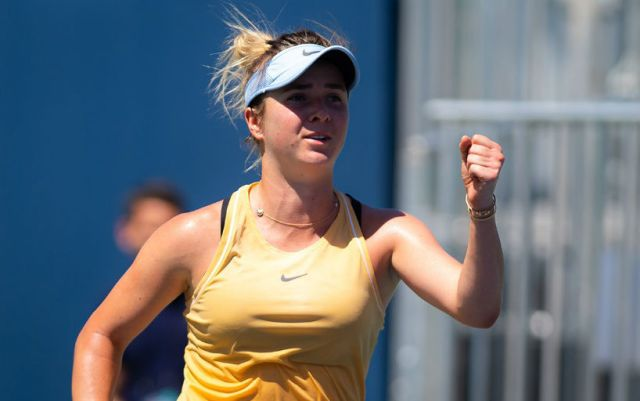 """Elina Svitolina: """"For the first match on hard everything turned out well""""."""