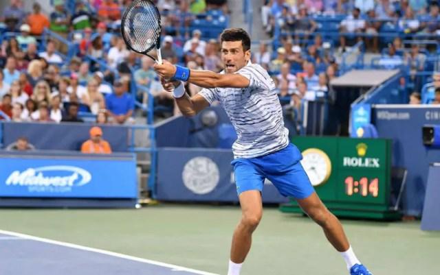 Novak Djokovic will play in the quarter finals of the tournament in Cincinnati