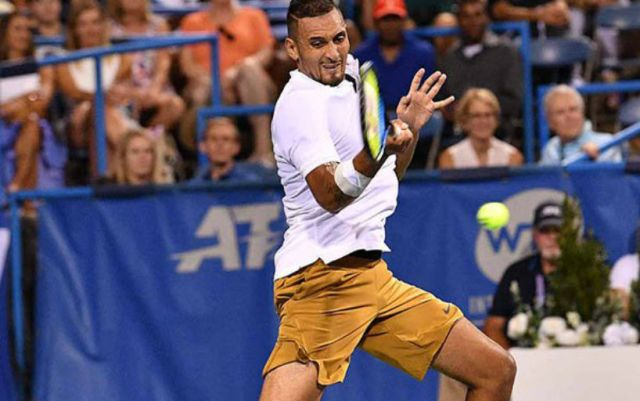 Washington. Nick Kyrgios took over Stefanos Tsitsipas