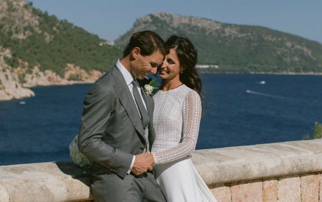 Published photos from the wedding of Rafael Nadal