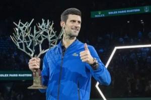 """Novak Djokovic won """"Masters"""" in Paris."""
