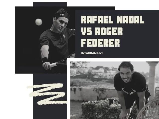 Rafael Nadal Instagram Live with Roger Federer