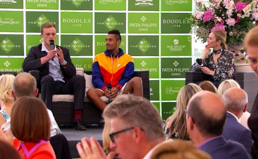 Nick Kyrgios Gets to See Josh Berry Impersonations First Hand in an Interview