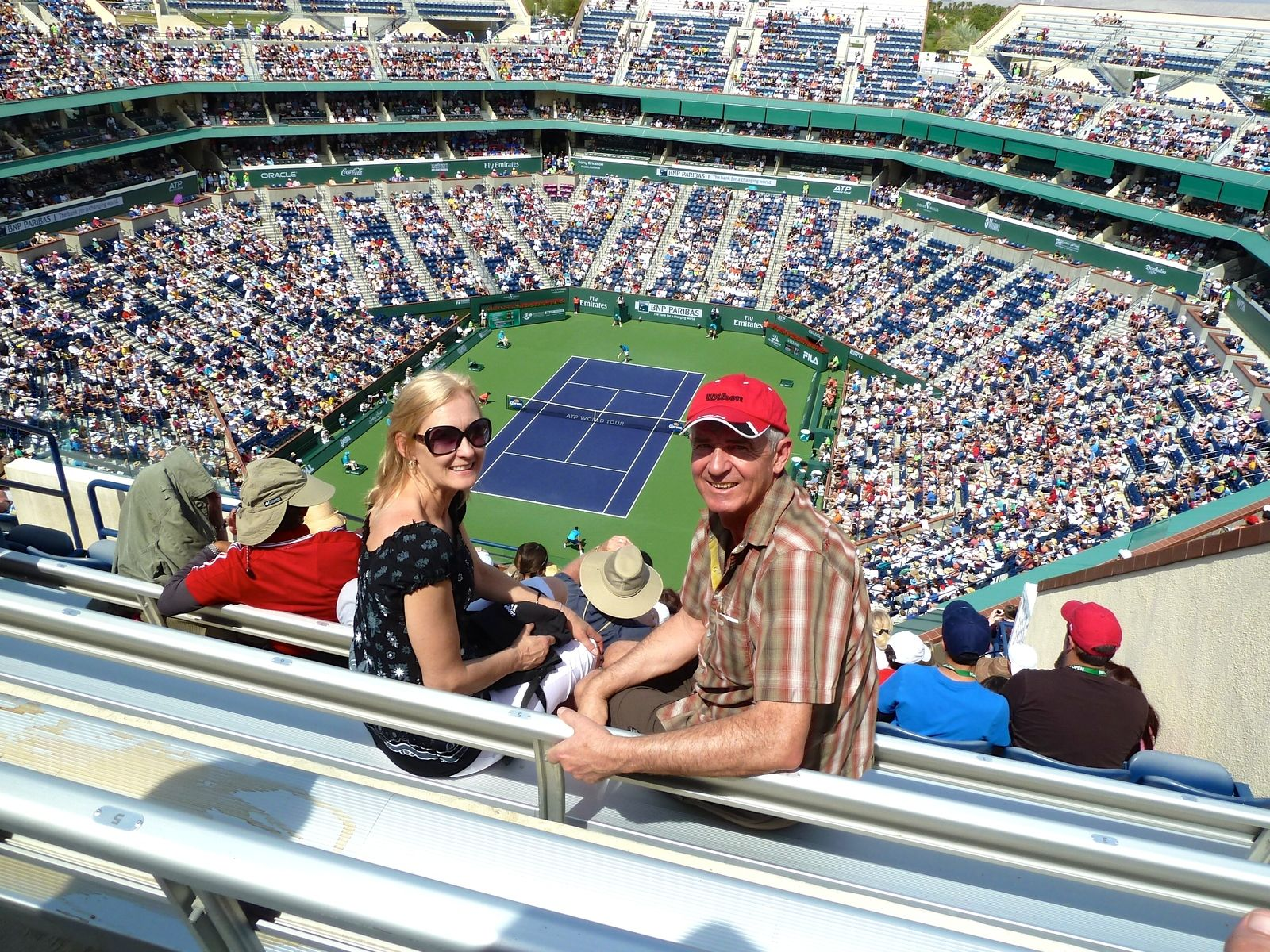 tennis tourist indian wells fans teri church - Indian Wells Tennis Garden