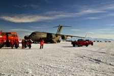 C-17. Touch-down on the ice in Antarctica (Nov 2011)