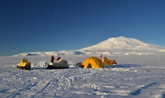 Training camp below Mount Erebus. Taken at about 11pm (Nov 2011)