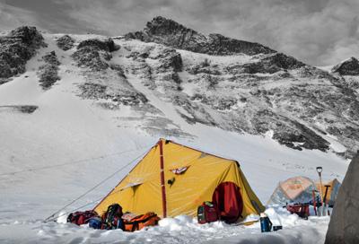 Camp at Mt. Gran (Jan 2013)