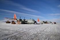 Freshly landed Hercules, Ross Ice Shelf (Jan 2013)