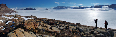 Over-looking Mackay Glacier panoramic (Jan 2013)