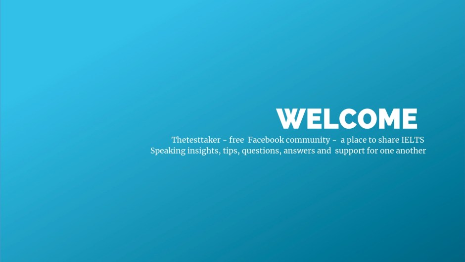 IELTS thetesttaker Facebook welcome