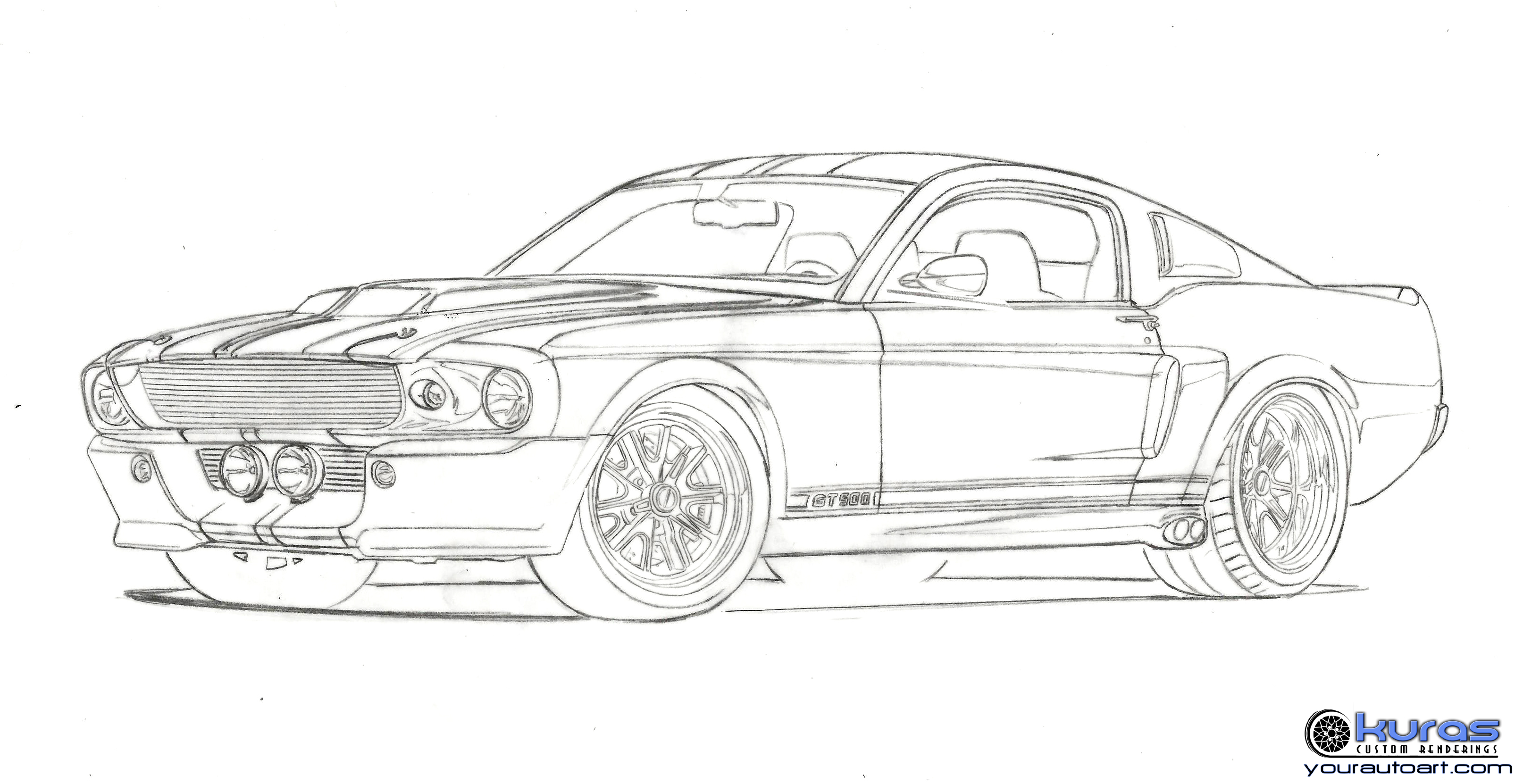 Mustang Sketch Pictures To Pin