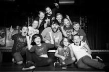 David Fynn (Dewey Finn) centre, and the School Of Rock kids / Photo by Craig Sugden