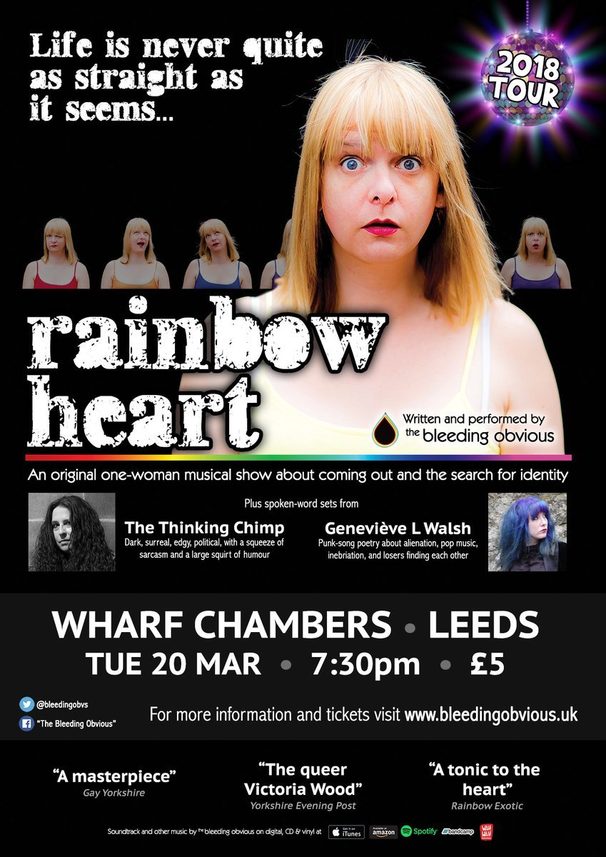 The Bleeding Obvious - Rainbow Heart Tour Poster
