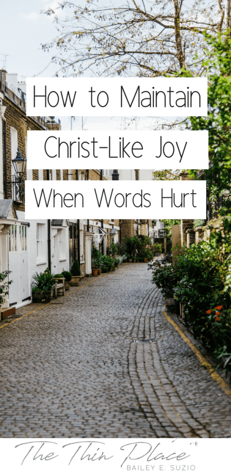 How to Maintain Christ-Like Joy When Words Hurt You #hurtfulwords #pain #joy #christlike #Jesus