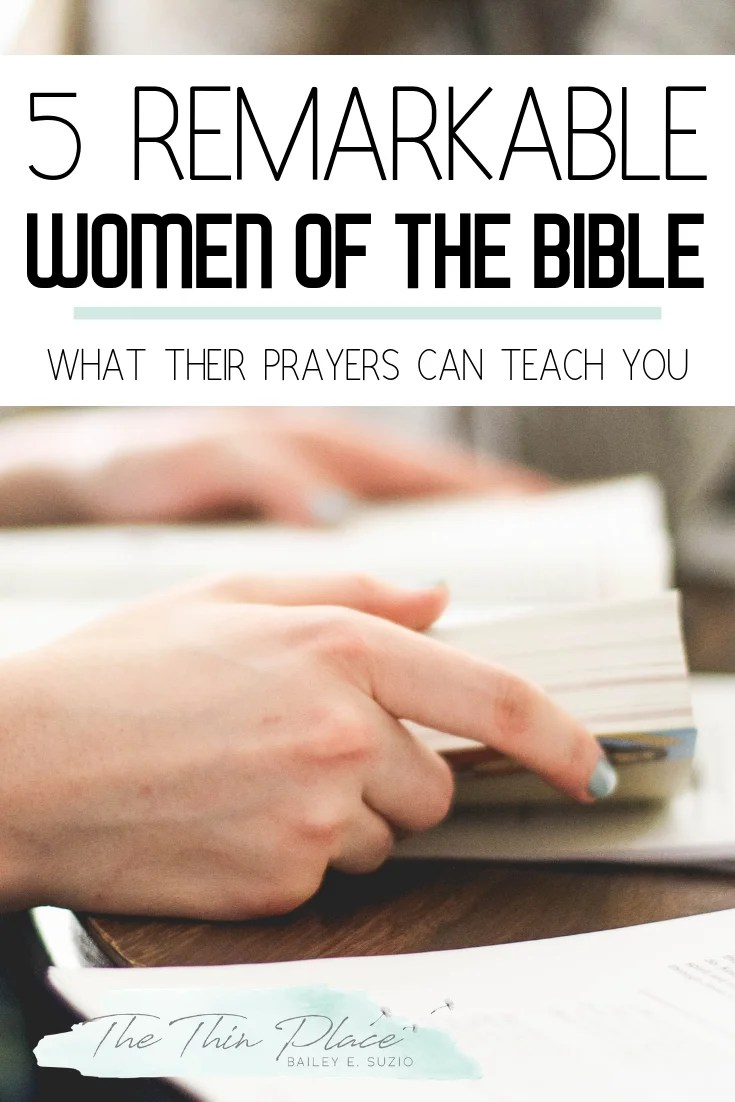 Learn to Pray Biblically from These 5 Women from the Bible #biblestudy #pray #christianprayer #christianwomen