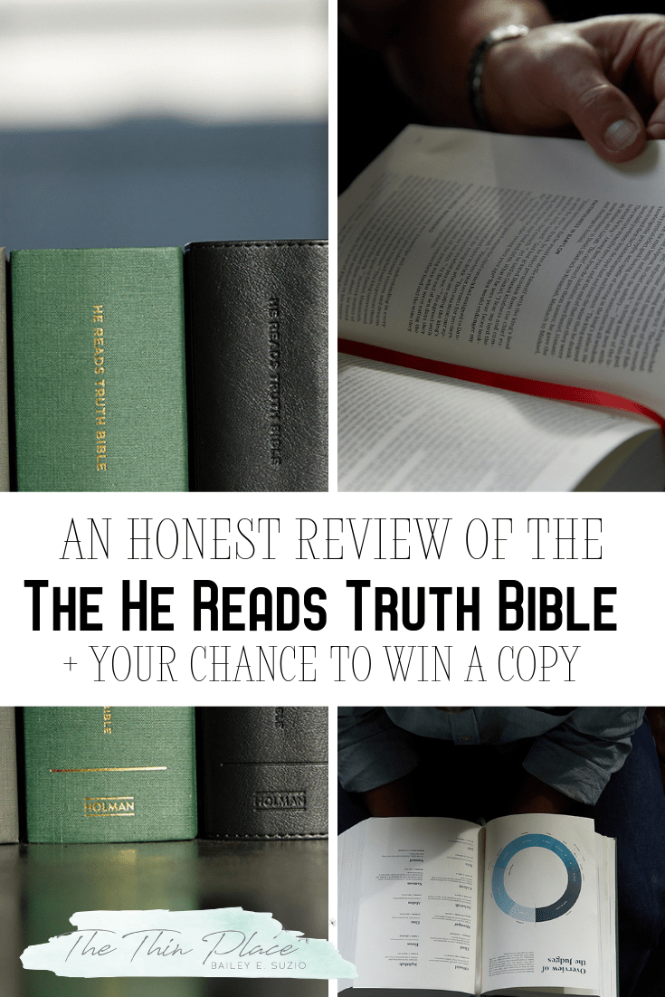 Have you heard about the new He Reads Truth Bible? It's the perfect gift for the Christian man in your life. HeReadsTruthL3 #Bible #GiftsforMen