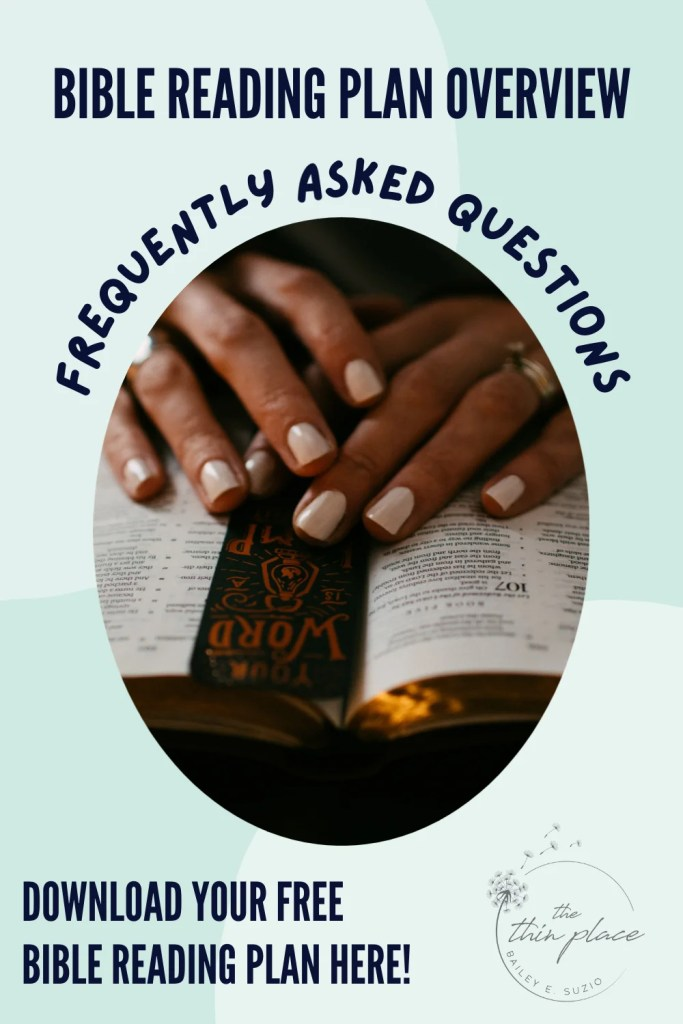 Download your free Bible reading plan! Here are some frequently asked questions about reading the entire Bible! #BibleReadingPlan #Devotional #ChristianWomen #TheBibleinLent #CatholicWomen #Bible #BibleReading