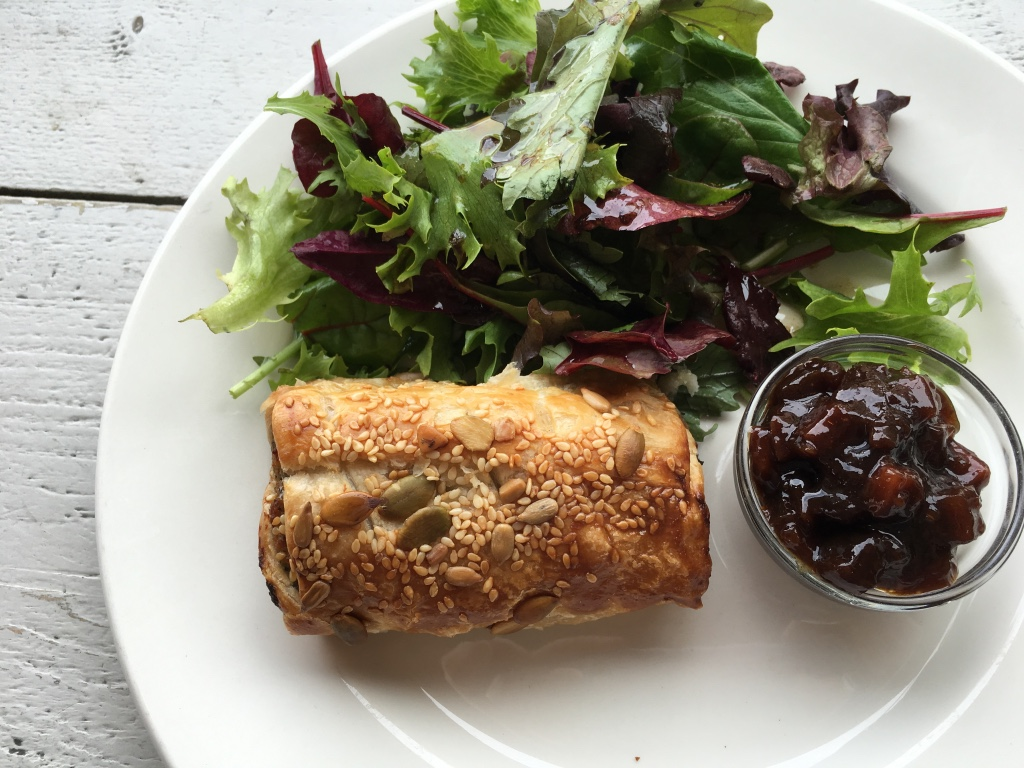 Sausage roll with pickle