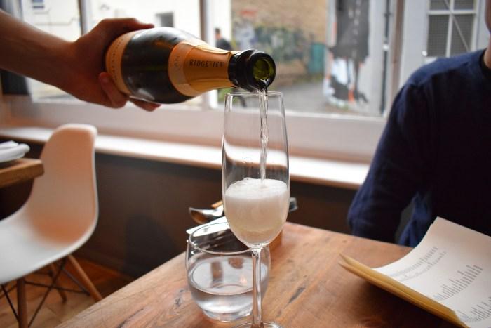 Ridgeview sparkling wine at Isaac At