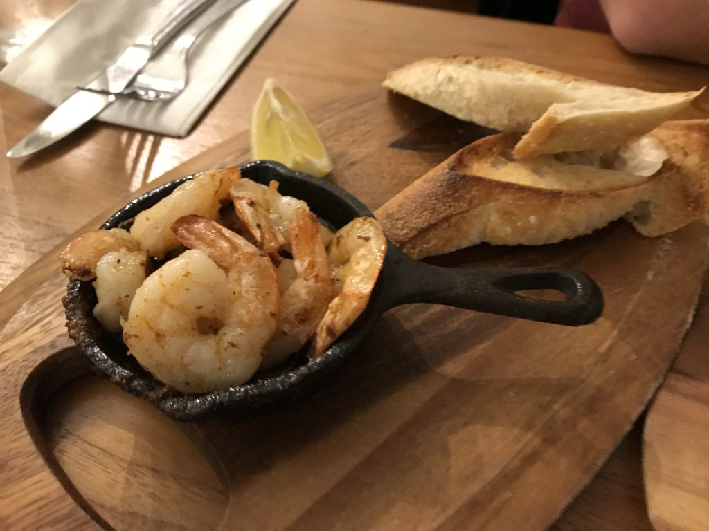 Garlic prawns | Bankers fish and chips