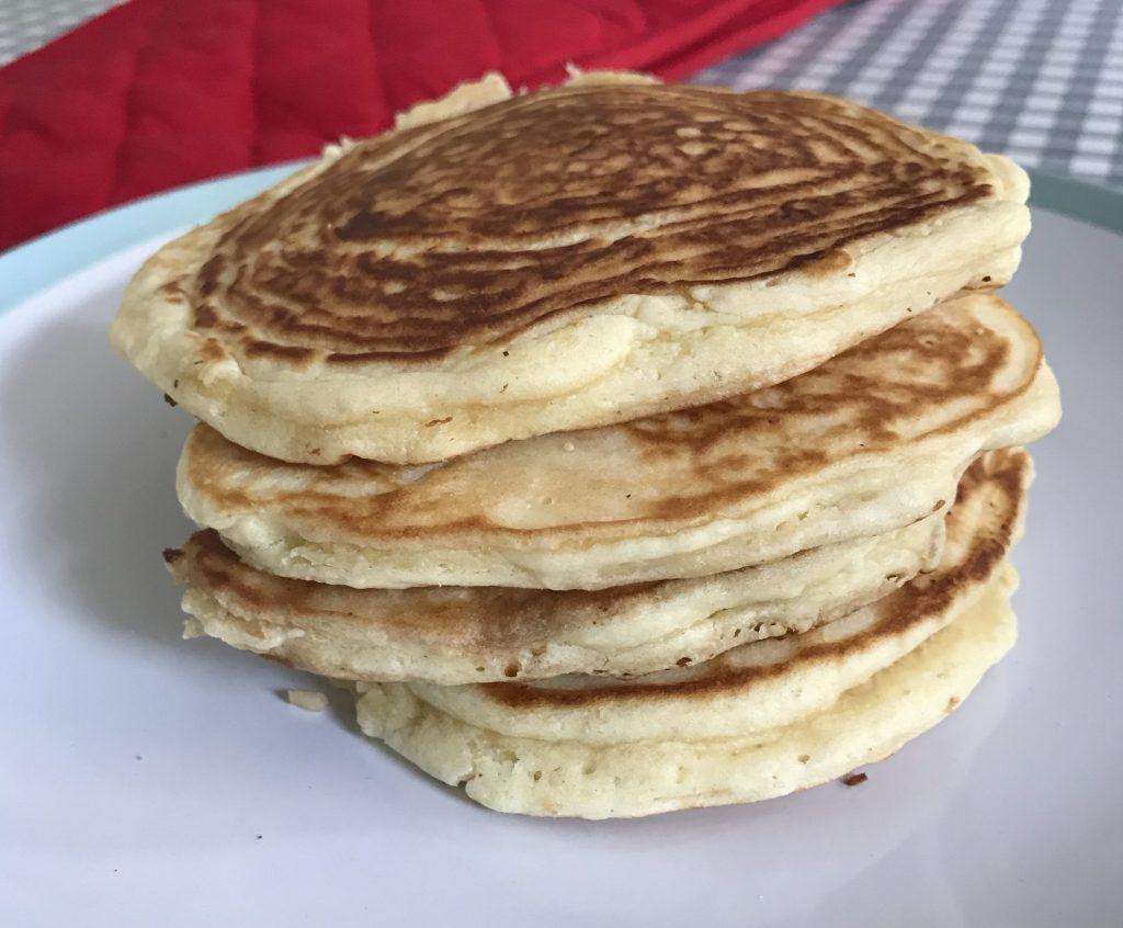 Fluffy American pancake stack