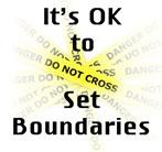 ok to set boundaries sign