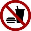 no eating sign