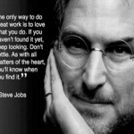 Steve jobs quote love what you do