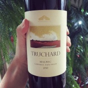 You know you've been good when Santa leaves you a Truchard Malbec under the tree