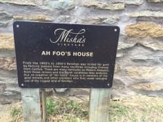 Ah Foo Historic Marker at Misha's Vineyard by The Thirsty Kitten