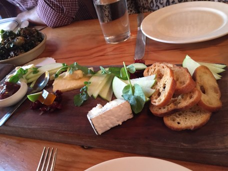 Cheese board at The Lark