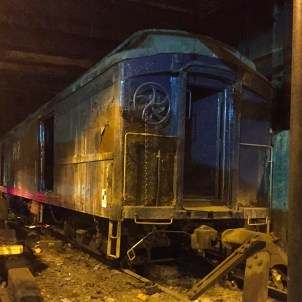 Train car used by FDR to arrive at the Waldorf Astoria in NYC in private. ©2015 Lucy Mathews Heegaard