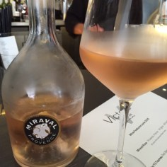 Our first try of Miraval, the rosé of famed proprietors, Brad and Angelina. Sipped at a local favorite, Vincent's on Water.