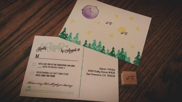 finished planet postcard