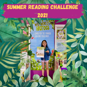 Lei Hang daughter Yasmin completed the Summer Reading Challege 2021 Wild World Heroes