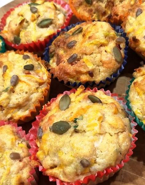 Cheesy Pumpkin Muffins