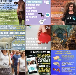 3x3 photo grid from 1 Million Women instagram profile.