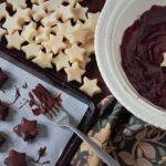 chocolate marzipan stars