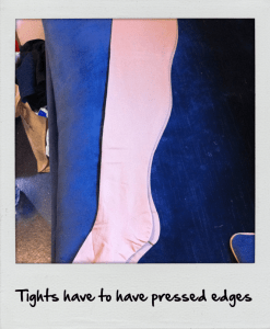 Backstage tips and Tricks from a West end Costumier- How to cheat seamed tights