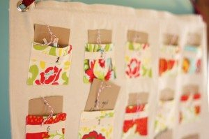 A home sewn advent calendar
