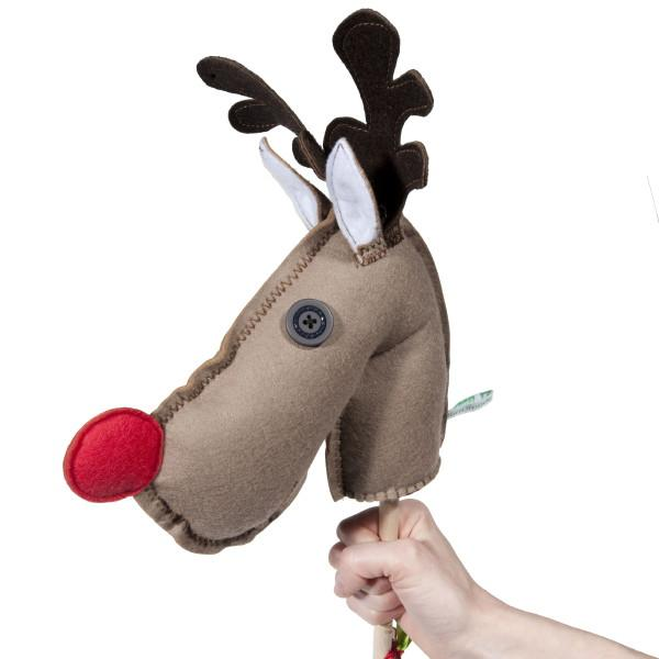 Crafty Christmas idea # 3- Make a Rudolph puppet.