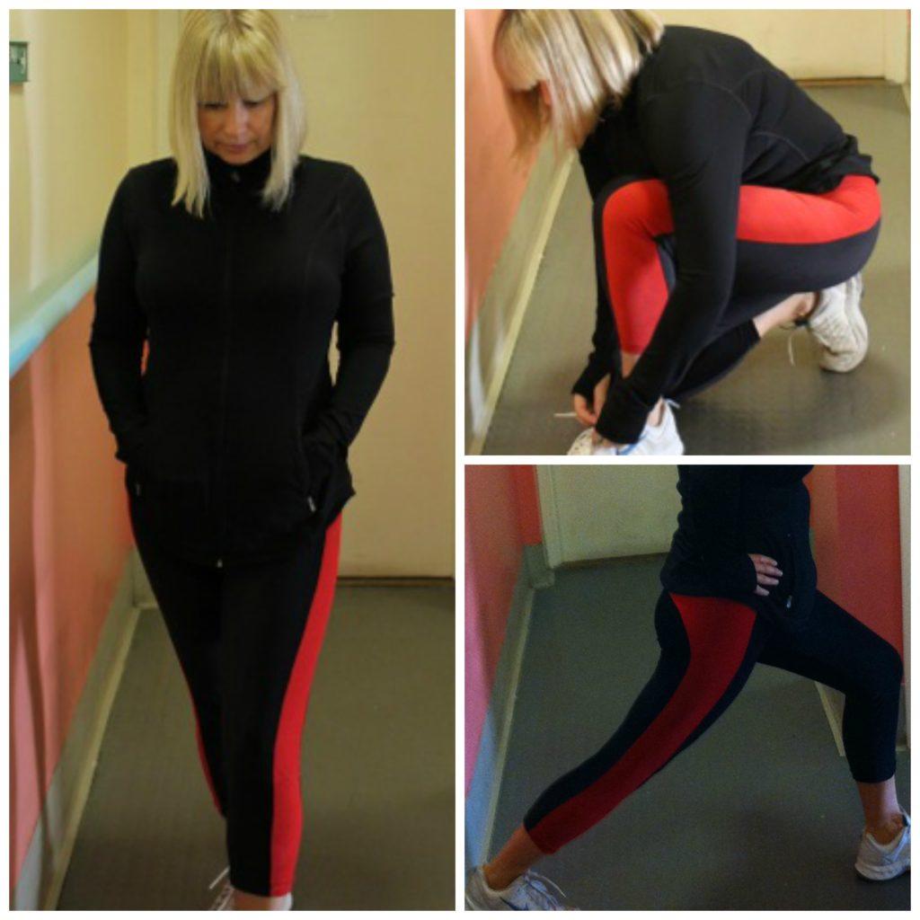 Pattern hacked leggings