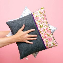 Learn to sew- Make a cushion cover @ The Thrifty Stitcher
