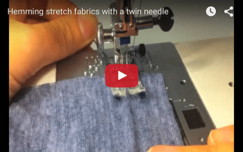 How to sew jersey hems with a twin needle