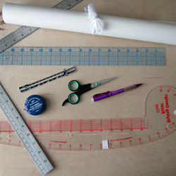 Pattern making tools- Beginners pattern drafting at the Thrifty Stitcher