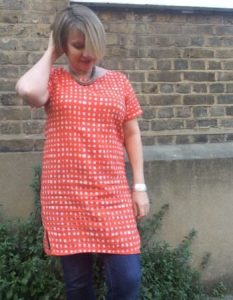Sew a simple shift dress with sleeves- session 2 @ The Thrifty Stitcher