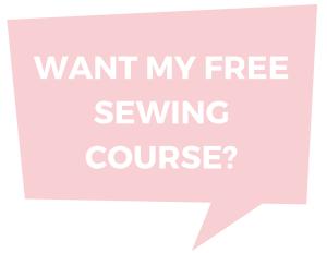 Free mini Sewing Course