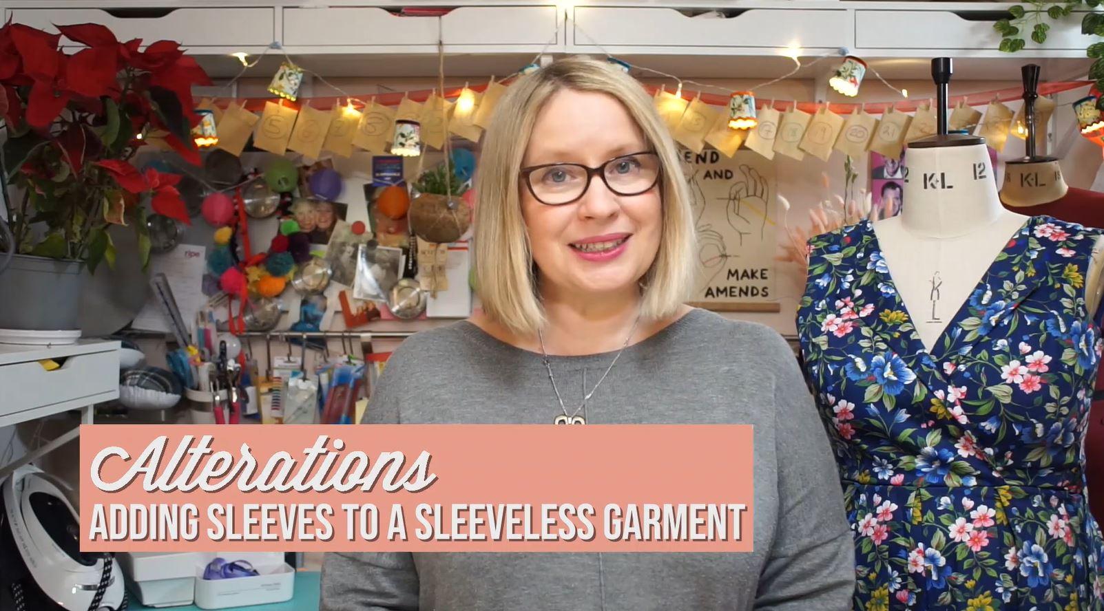 Vimeo on demand Lesson - Adding sleeves to a sleeveless garment